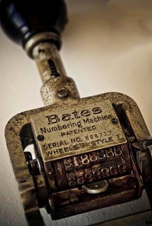 Bates Labeling Machine